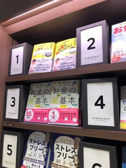 TSUTAYA横浜みなとみらい店でビジネス書ランキング1位になりました!